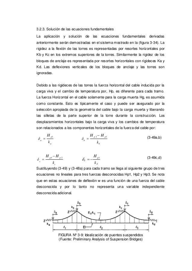 k d 3.2.3. Solución de las ecuaciones fundamentales La aplicación y solución de las ecuaciones fundamentales derivadas ant...