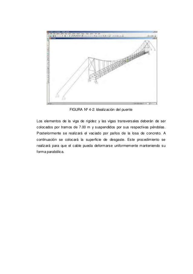 FIGURA Nº 4-2: Idealización del puente Los elementos de la viga de rigidez y las vigas transversales deberán de ser coloca...