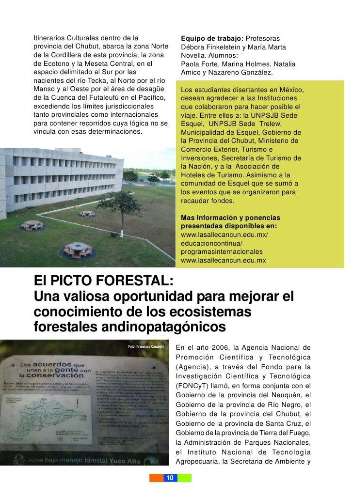 Itinerarios Culturales dentro de la              Equipo de trabajo: Profesoras provincia del Chubut, abarca la zona Norte ...