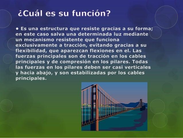 Puentes colgantes proyecto de fisica  Slide 3