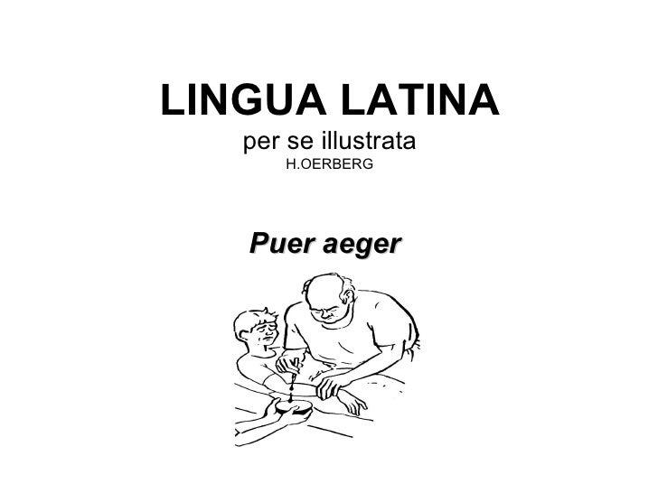 LINGUA LATINA per se illustrata H.OERBERG <ul><li>Puer aeger </li></ul>