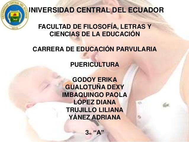 UNIVERSIDAD CENTRAL DEL ECUADOR FACULTAD DE FILOSOFÍA, LETRAS Y CIENCIAS DE LA EDUCACIÓN CARRERA DE EDUCACIÓN PARVULARIA P...