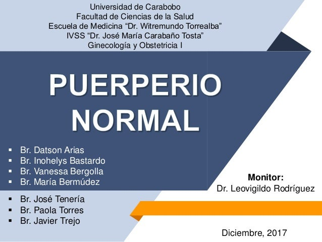 """Universidad de Carabobo Facultad de Ciencias de la Salud Escuela de Medicina """"Dr. Witremundo Torrealba"""" IVSS """"Dr. José Mar..."""
