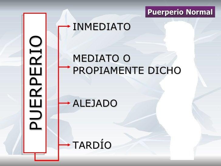 Puerperio normal y patologico Slide 3