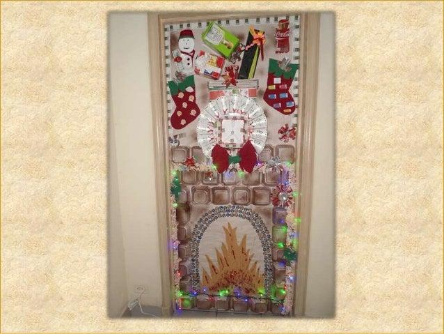 Concurso de puertas navidenas quality san salvador for Puertas decoradas santa claus