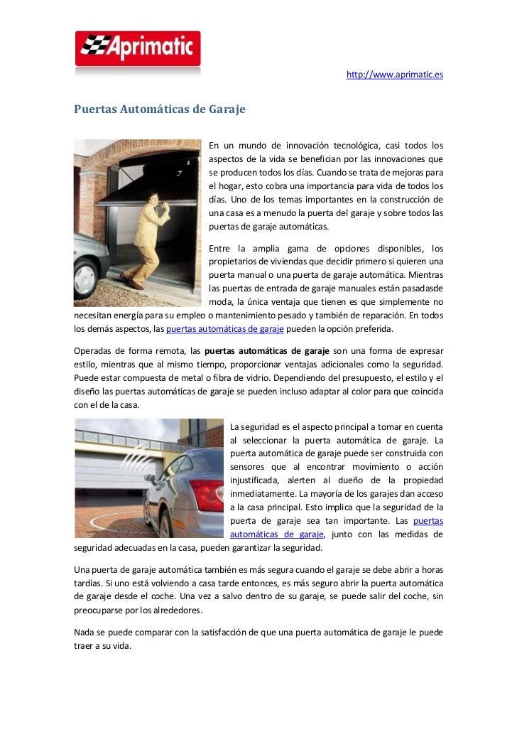 Puertas autom ticas de garaje - Proyecto puerta de garaje ...