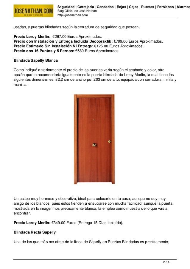 Puertas blindadas precio - Precio puerta blindada ...