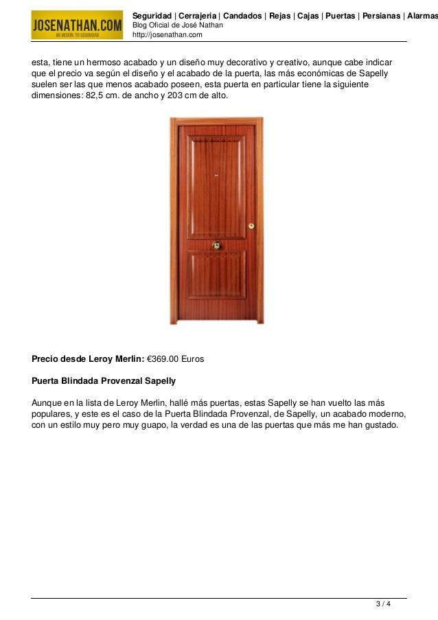 Puertas blindadas precio for Puertas blindadas economicas