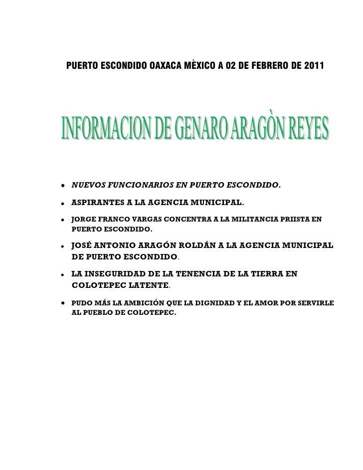 PUERTO ESCONDIDO OAXACA MÈXICO A 02 DE FEBRERO DE 2011 NUEVOS FUNCIONARIOS EN PUERTO ESCONDIDO. ASPIRANTES A LA AGENCIA MU...