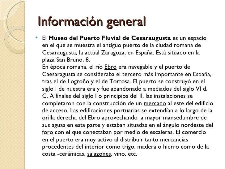 Puerto Fluvial De Cesaraugusta