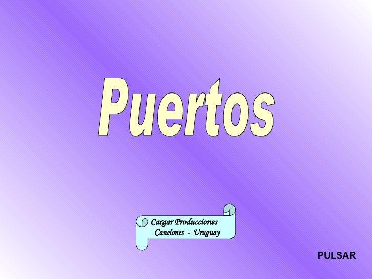 Puertos Cargar Producciones  C anelones  -  Uruguay PULSAR