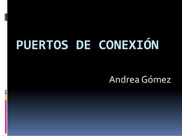 PUERTOS DE CONEXIÓN Andrea Gómez