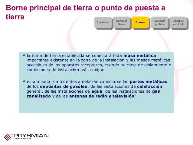 Borne principal de tierra o punto de puesta atierraElectrodoElectrodo ConducttierraConducttierra BornesBornes Conductprote...