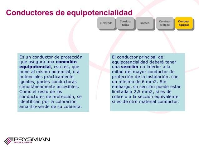 Conductores de equipotencialidadElectrodoElectrodo ConducttierraConducttierra BornesBornes ConductproteccConductproteccCon...