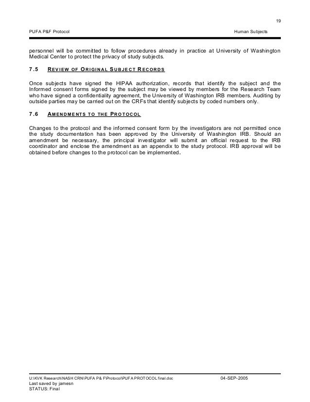 Pufa protocol in signing the confidentiality agreement all study 25 platinumwayz