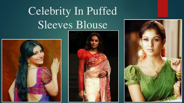 e4fe45af8be5a Puffed sleeves sarees blouse
