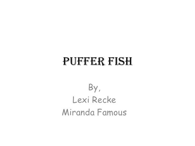 Puffer Fish      By,  Lexi ReckeMiranda Famous