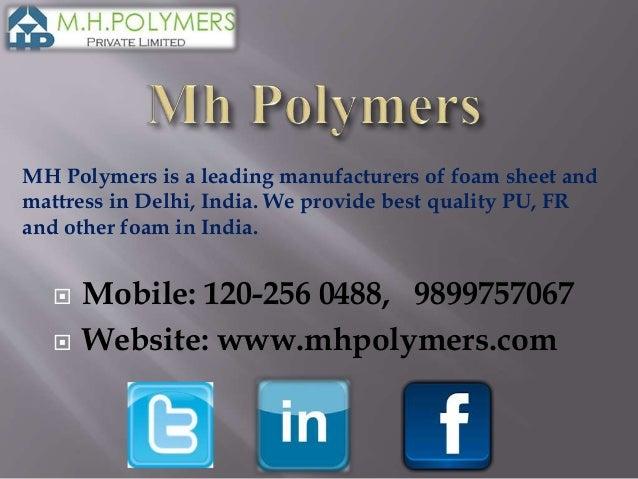 Pu foam manufacturers in india