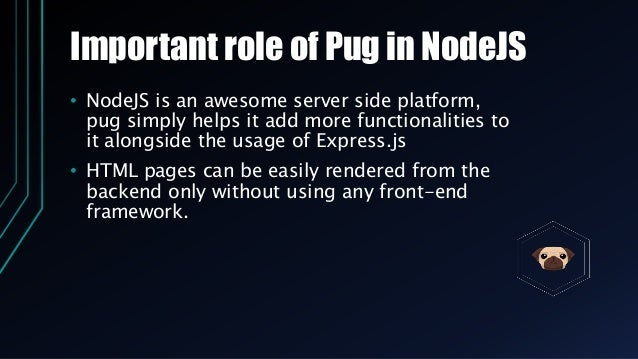 Pug Jade Template Engine And Its Importance
