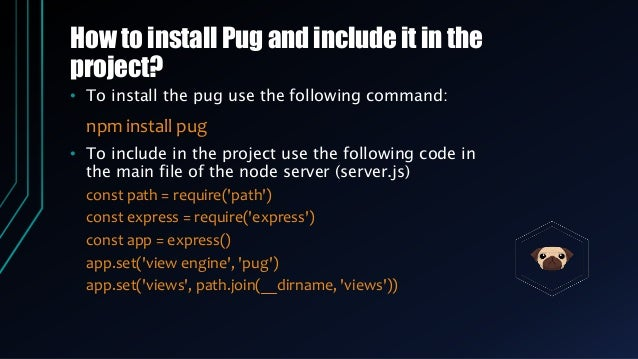 Pug (Jade) template engine and its importance