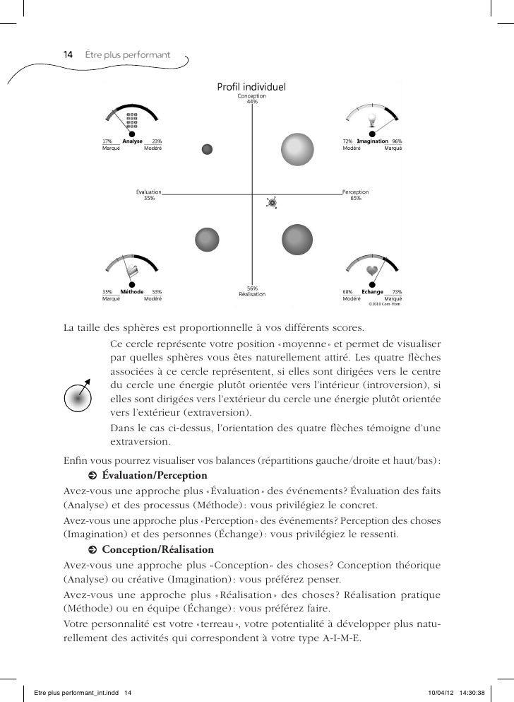 14     Être plus performant         La taille des sphères est proportionnelle à vos différents scores.                    ...
