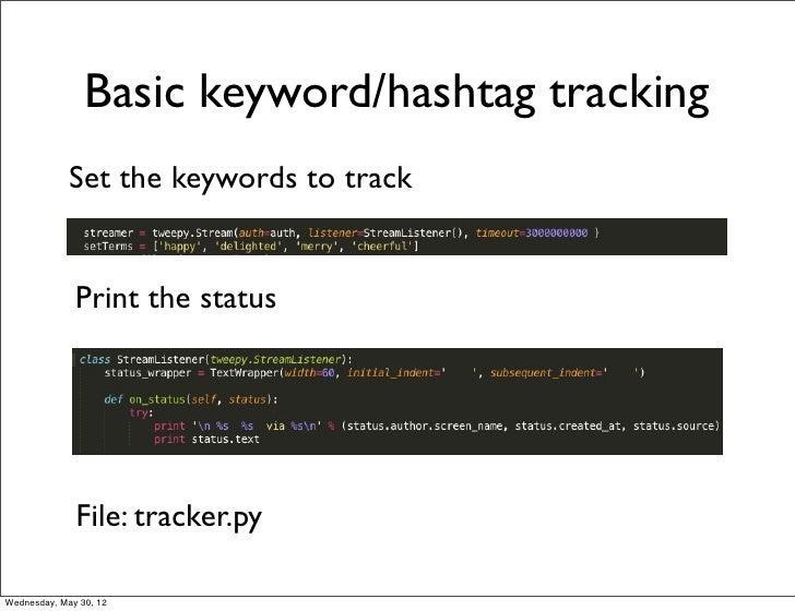 Parsing real-time data using Twitter Streaming API