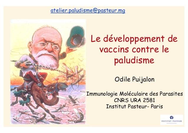 atelier.paludisme@pasteur.mg               Le développement de                 vaccins contre le                    paludi...