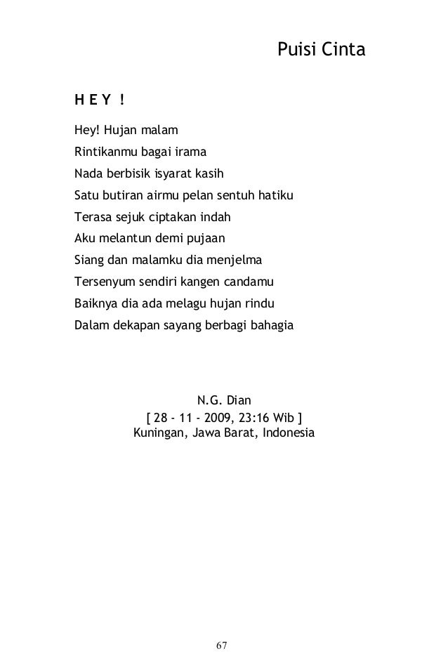 Puisi Cinta