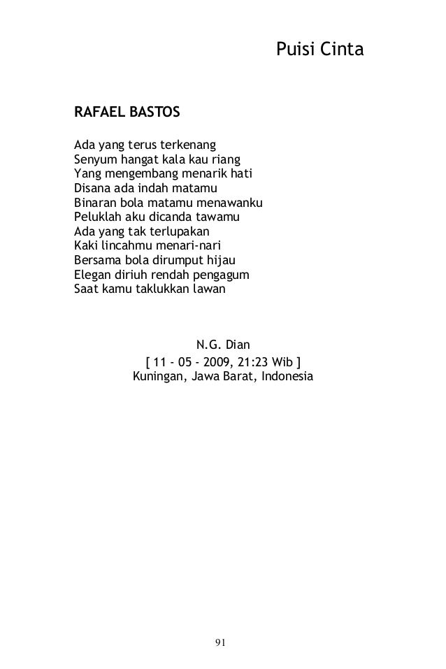 puisi cinta kumpulan puisi
