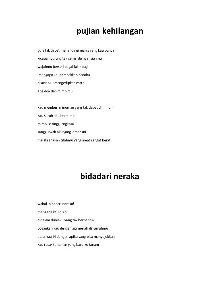 Puisi Indonesia Tentang Kehidupan - Kumpulan Puisi Terbaik