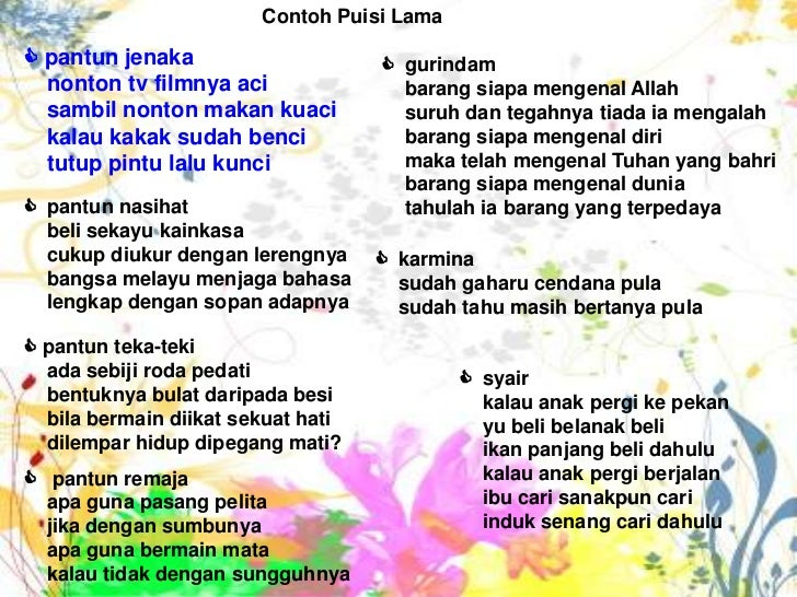 Puisi Lama