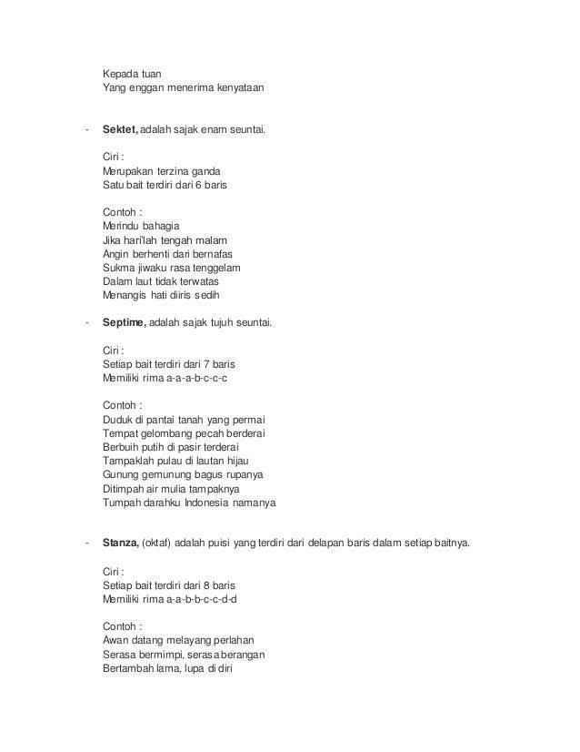 Puisi Lama Dan Puisi Baru