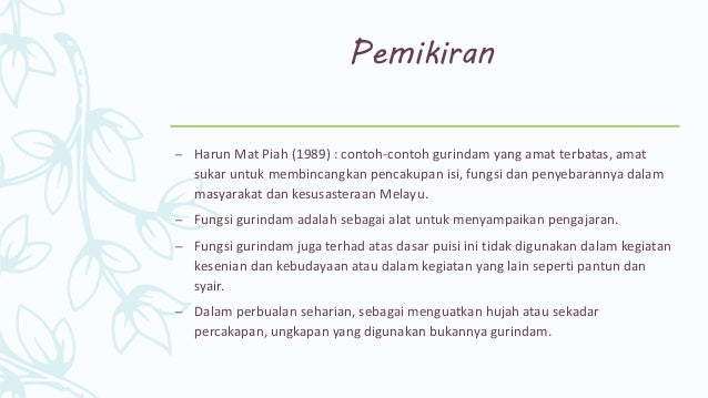 Puisi Melayu Tradisional Gurindam Bmmb3033 Kesusasteraan Melayu