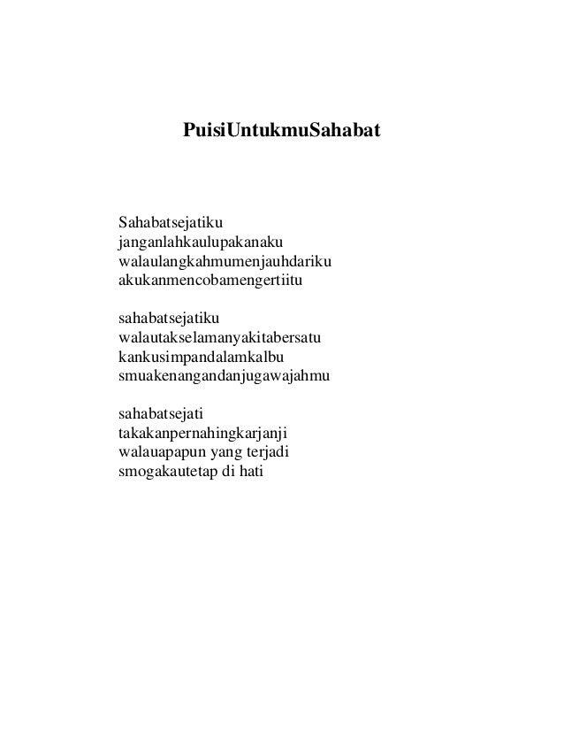Image Result For Contoh Puisi Tentang Persahabatan
