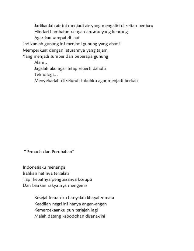 Contoh Puisi Singkat Cinta Tanah Air Archidev