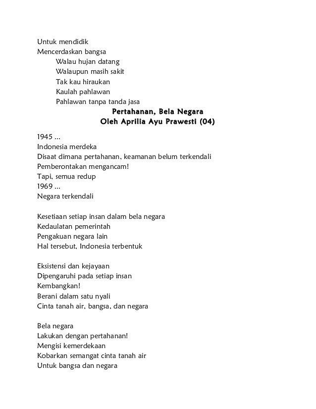 Contoh Puisi Cinta Tanah Air 4 Bait Brad Erva Doce Info