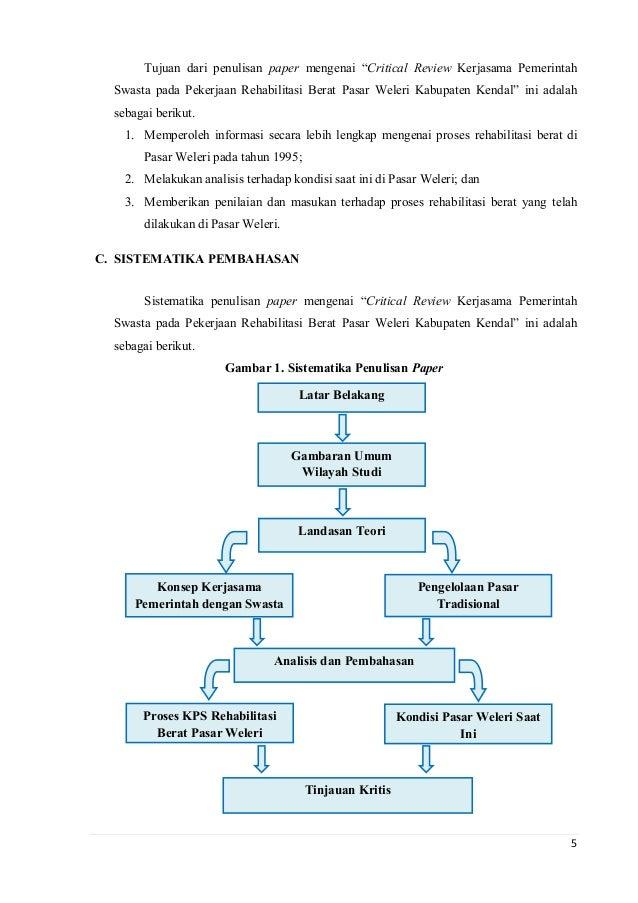 Critical Review Kps Pasar Weleri Kabupaten Kendal