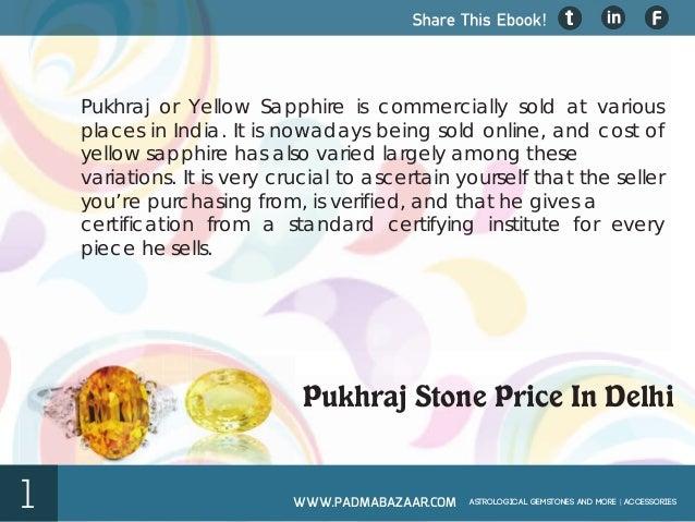 Pukhraj Stone Price In Delhi