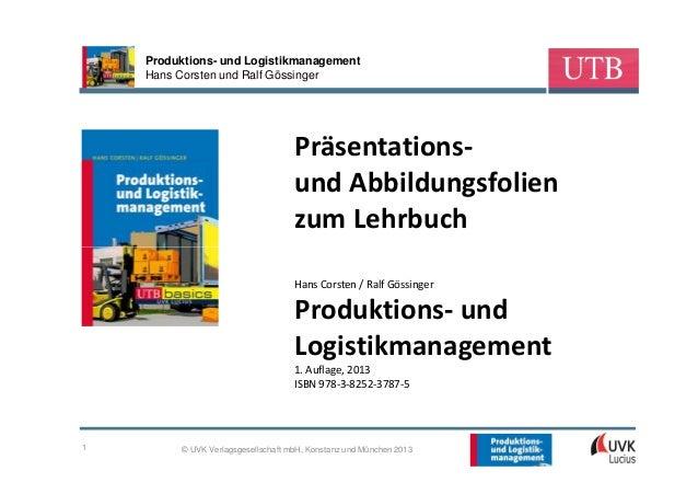 Produktions- und Logistikmanagement    Hans Corsten und Ralf Gössinger                                    Präsentations-  ...