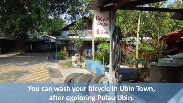 You can wash your bicycle in Ubin Town,  after exploring Pulau Ubin.