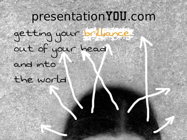 presentationYOU.comgetting your brillianceout of your headand intothe world