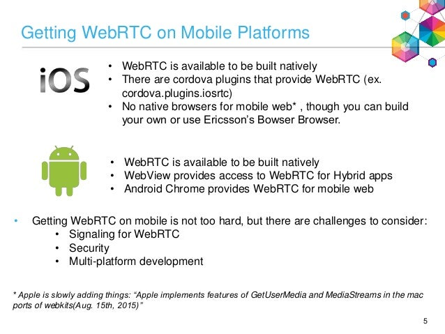 Wading through the mobile WebRTC developer gauntlet (IIT RTC Conferen…