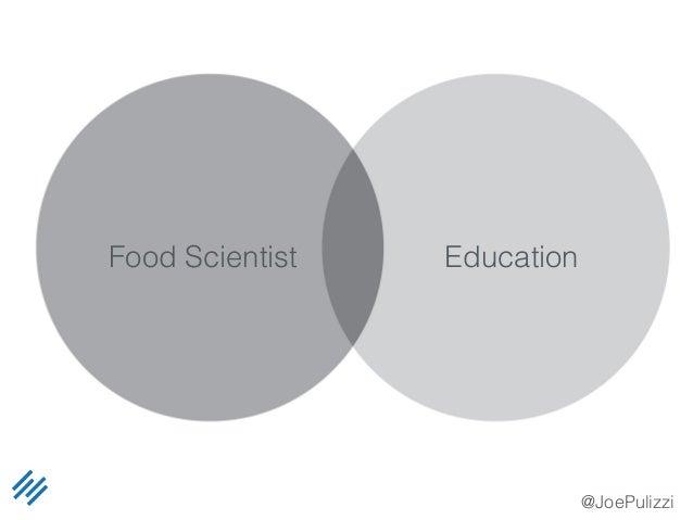 @JoePulizzi Food Scientist Education