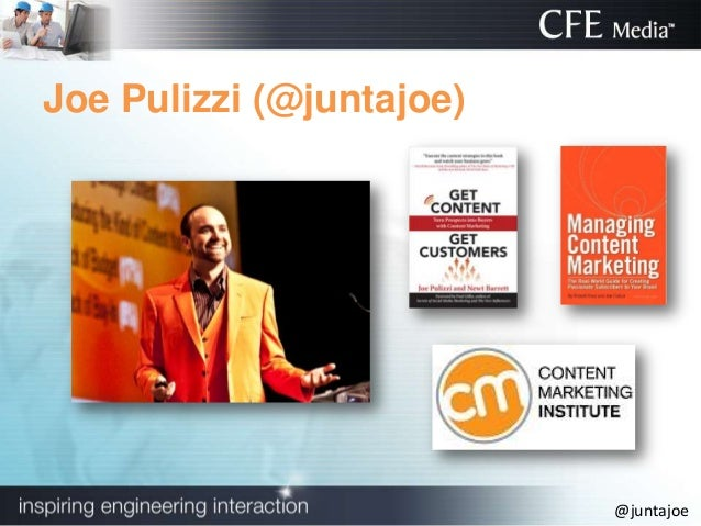 Content Marketing-Giving Away Your Secret Sauce: Joe Pulizzi Slide 2