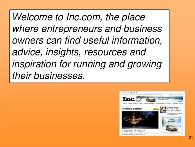 @JoePulizzi #2013IMF  Welcome to Inc.com, the place Why? business where entrepreneurs and owners can find useful informati...