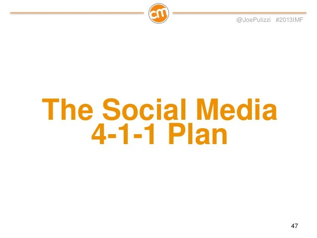 @JoePulizzi #2013IMF  Influencer Sharing  Sales  Content Marketing 48