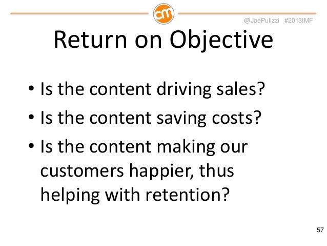 @JoePulizzi #2013IMF  Creating Better Customers  58