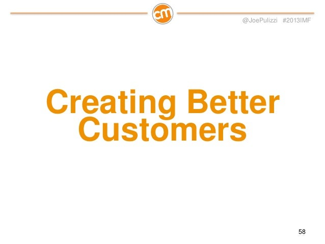 "@JoePulizzi #2013IMF  Mid-sized CMS company – large considered purchase ($100k to $200k)  ""okay, we'll try this content ma..."