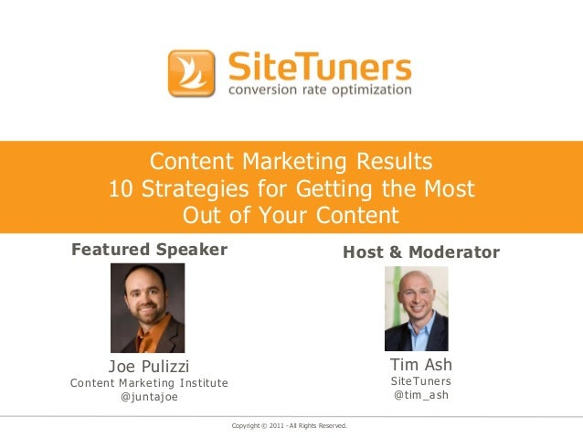Content Marketing Results      10 Strategies for Getting the Most             Out of Your ContentFeatured Speaker         ...