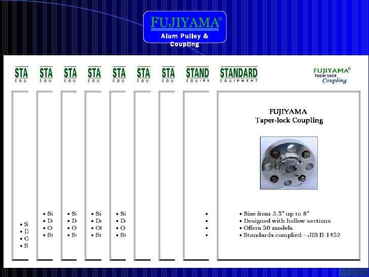 F UJIYAMA ® Alum Pulley & Coupling